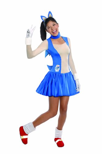 Sonic The Hedgehog Gloves (Rubie's Costume Sonic The Hedgehog Dress and Accessories, Blue, Teen)