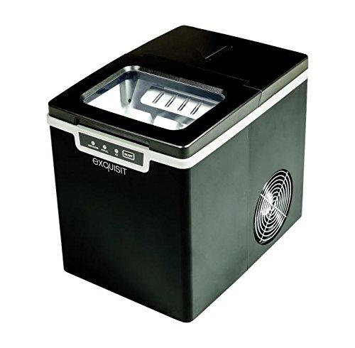 Exquisit EM 6001 sw Eiswürfelmaschine, Produktionsvolumen 13 kg / 24 h, Eiswürfelproduktion in 7 Minuten, Schwarz