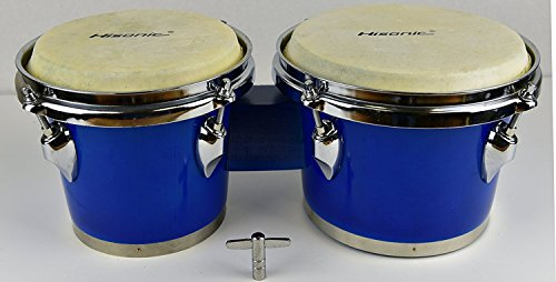 Hisonic Signature Series HS4613 Tunable Wood Bongo Set (6'' & 7'') by Hisonic