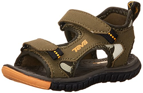Teva Tanzium Toddler Sport Sandal (Toddler), Olive/Camouflage, 4 M US Toddler