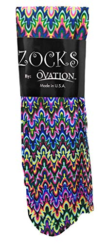 Ovation Zocks Ladies Boot Socks- Blue Fleur Missoni