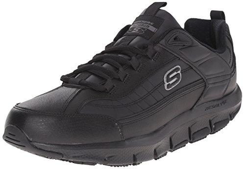 Skechers for Work Men's Liv Sr Brawney Health Care & Food Service Shoe, Black, 8.5 M US by Skechers