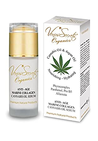 Sérum antienvejecimiento con aceite de cannabis y colágeno marino, 40 ml, tratamiento profundo e