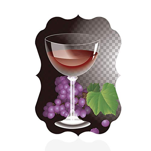 Sign Destination Aluminum Metal Wall Decor Wine Glass Background Bunches of Grapes Vertical Photo Print Wall Art - Benelux Shape, 5