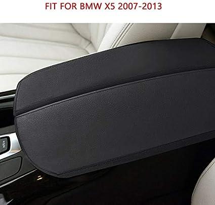 Car Center Console Armrest Pad Cover Case Protection Trim for BMW X5 2007 2008 2009 2010 2011 2012 2013 2014 2015 2016 2017 2018 Color Name: black 07-13