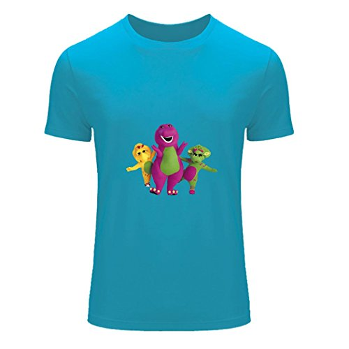 Barney & Friends men's customs Tee shirt Sky Blue Medium - Barney And Friends Clothes