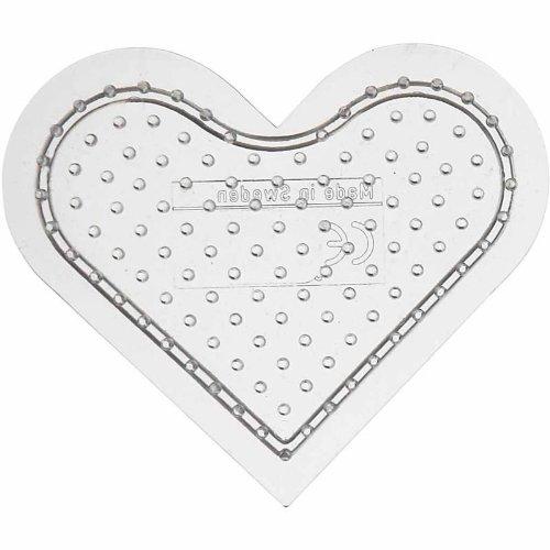 (Peg Board, 7 cm, transparent, small heart, 1)