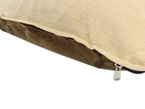 American Comfort Warehouse 47''x29'' Large Size Removable Zippered Luxurious Soft Fleece Beige/Brown Suede Cover Case for Small to Large Dogs - External Cover Only by American Comfort Warehouse