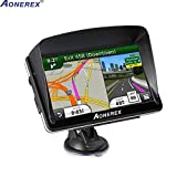 Car GPS Navigation (7 inch/8GB) Aonerex Vehicle GPS Navigation System with Built-in Lifetime Maps,FM Car Navigation and Spoken Turn-by-Turn Directions