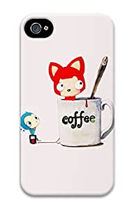 iPhone 4 4s Cases & Covers - Coffee Tanuki Custom PC Soft Case Cover Protector for iPhone 4 4s