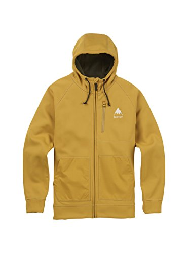 Burton Men's Crown Bonded Full-Zip Hoodie, Harvest Gold, Small