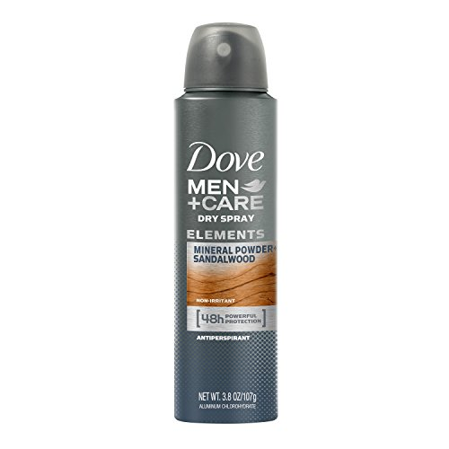Dove Men+Care Elements Antiperspirant Dry Spray, Mineral Powder + Sandalwood, 3.8 Ounce