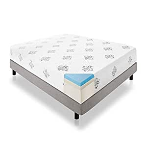 LUCID 12 Inch Gel Memory Foam Mattress - Triple-Layer - 4 Pound Density Ventilated Gel Foam - CertiPUR-US Certified - 10-Year U.S. Warranty - Twin XL