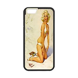 DIY Vintage Pin Up Girl Iphone6 Plus Cover Case, Vintage Pin Up Girl Personalized Phone Case for iPhone 6 plus 5.5