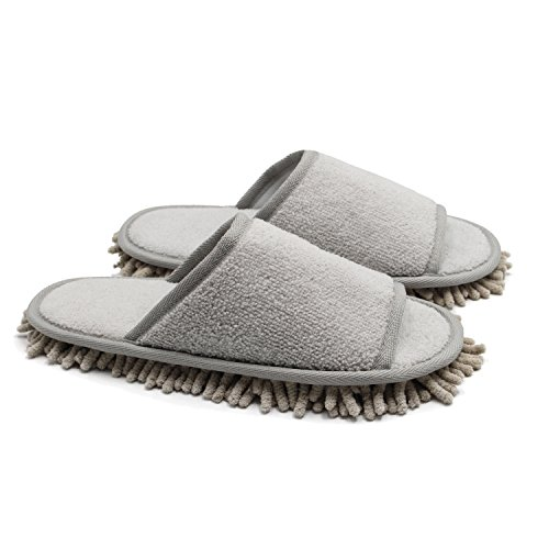 Ofoot Slippers with Mop Chenille Microfiber x8f1w7xpq