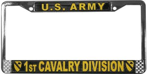U.S. Army 1st Cavalry Division License Plate Frame (Chrome ()
