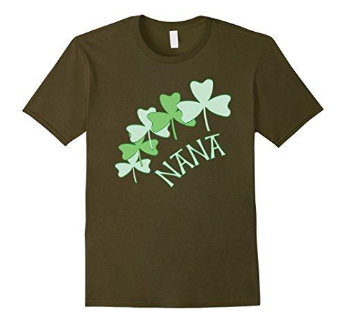Mens Nana Light Shamrocks Irish Grandmother T-Shirt Medium (Irish Shamrock Light T-shirt)