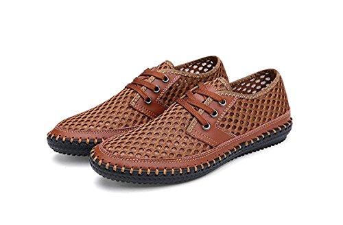 MIXSNOW Herren Poseidon Slip-On Loafers Wasser Schuhe Casual Wanderschuhe Braun