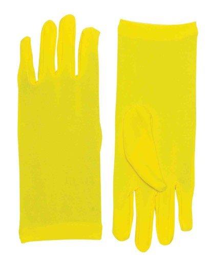 Short Yellow Gloves (Forum Novelties Women's Novelty Short Dress Gloves, Yellow, One Size)