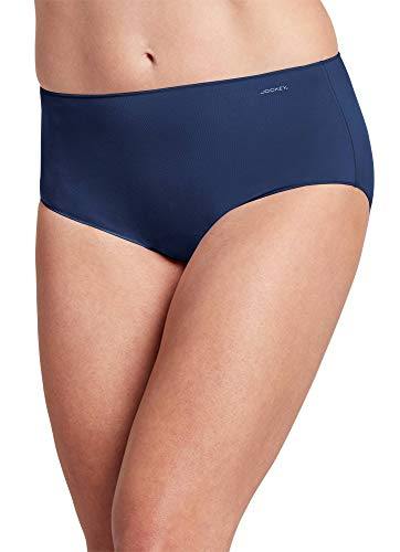 Jockey Women's Underwear No Panty Line Promise Tactel Hip Brief, Just Past Midnight, 8