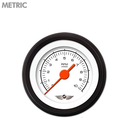 GAR228ZMAIACAH Competition Series White Tachometer Gauge with Emblem Aurora Instruments