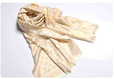 Image Unavailable. Image not available for. Colour  LOUIS VUITTON SCARF  SHAWL WHITE ON SALE monogram silk 1e0768b18b1