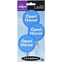 """Anagram International 1689901 3 Count Pop Open House Bunch Packed Balloons, 18"""""""