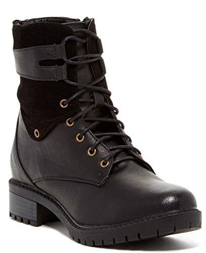 Bucco Oskar Kvinners Mote Blonder-up Boots Black