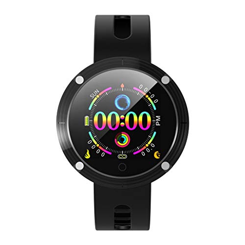 WoCoo Fitness Tracker,Touch SmartWatch with Blood Pressure Monitor GPS Activity Tracker,Compatible with iOS and Android(Black,Gift for youself/her&he)