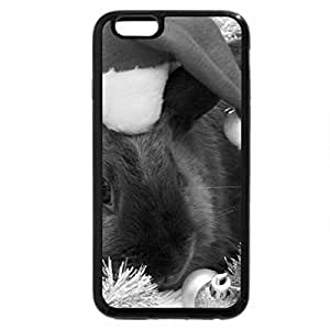 iPhone 6S Case, iPhone 6 Case (Black & White) - Tulips & Bunny
