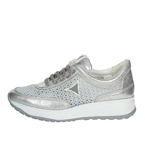 39 GM Cinzia 002 IV8137A Argent Petite Sneakers Femme Soft cUaq6wa1x8