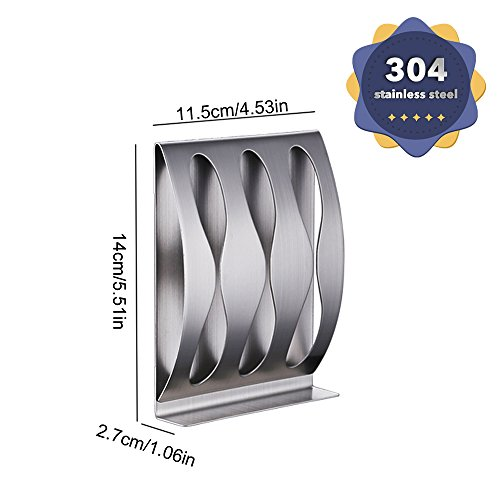 Wenkoni(3Hole) Bathroom 304 Stainless Steel Self/Adhesive Wall Mount Toothbrush Holder Razor Stand.