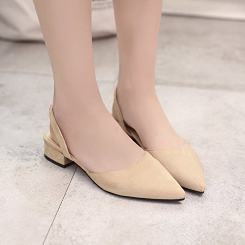 donne scarpe toed signora scarpe tacco scarpe tip sandali casual Mikimo femminile piatto Strappy UTOxAwSn