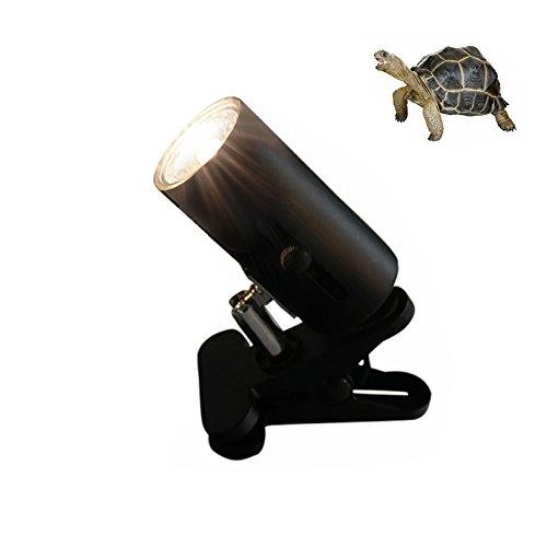Petacc Reptile Heat Lamp Holder Turtle Heat Light Stand Ceramic Pet Basking Light Clip, E27 Socket, 360 Degree Rotation, Black by Petacc