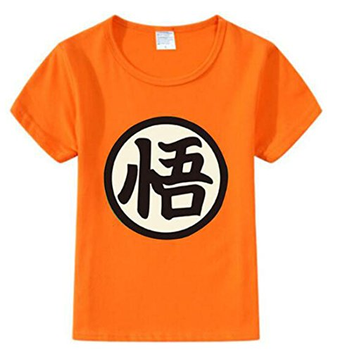 NSOKing Dragon Ball Z Son Goku Cosplay Costume Kids Children Baby Tshirt Tee