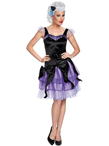 Disguise Women's Ursula Deluxe Adult Costume, Black/Purple, X-Large -