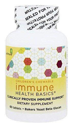 Immune Health Basics - Children's Chewable Beta Glucan with Wellmune WGP Immune Support 25 mg. - 60 Tablets