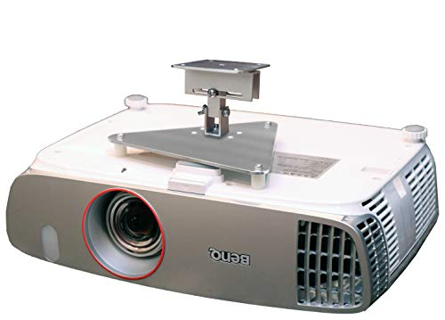 PCMD, LLC. Projector Ceiling Mount Compatible with BenQ HT2050 HT2050A HT2150ST HT3050 W1110 W2000 with Lateral Shift Coupling (5-Inch Extension)
