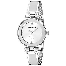 Anne Klein Women's Genuine Diamond Dial Bangle Watch