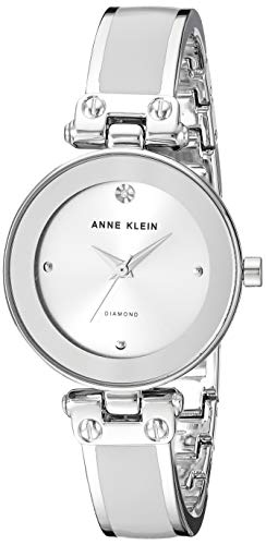Anne Klein Women's Diamond-Accented Bangle Watch
