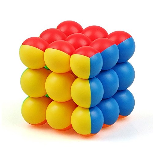 2017 3x3x3 Round Bead Ball Magic Speed Cube Puzzle Colorful Cubo Magico Educational Toys Special Toys For Children