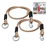 LHKJ 2 Pcs Adjustable Swing Ropes Heavy Duty Hanging Nylon Rope Holds Perfect for Hammock Swing Chair