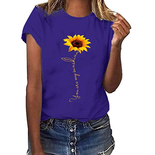 Londony❀♪ Sunflower T-Shirt Women Cute Funny Graphic Tee