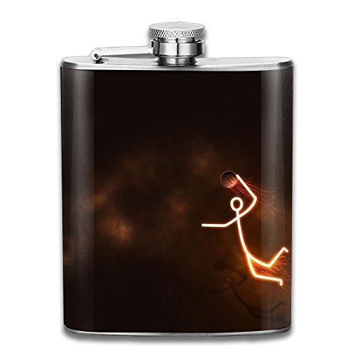 Bacchus-G Cool Dunk Basketball Unisex Hip Flask For Liquor Stainless Steel Bottle Alcohol 7oz