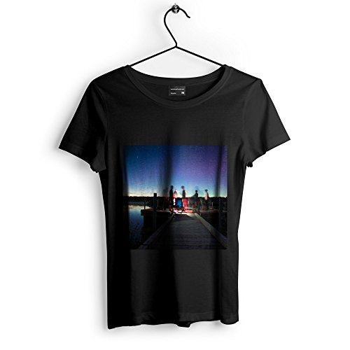 Sky Galaxy - Unisex Tshirt - Picture Photography Artwork Shirt - Black Adult Medium (None-FE16A) (Bench Therapy Galaxy)