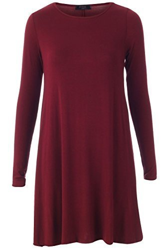 Generic Damen SwingKleid Kleid Rot Weinfarben sKtBcW7u - magnetic ... 40fe353506
