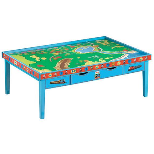 Amazon Com Thomas Stars All Aboard Train Table With Playboard Toys Games