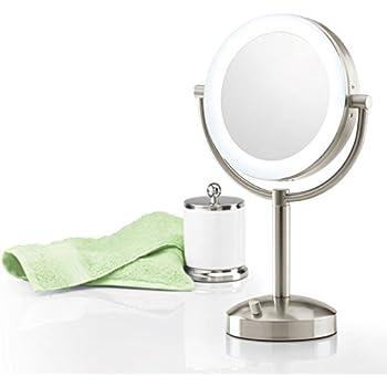 Amazon Com Brookstone 10x 1x Natural Light Wall Mirror