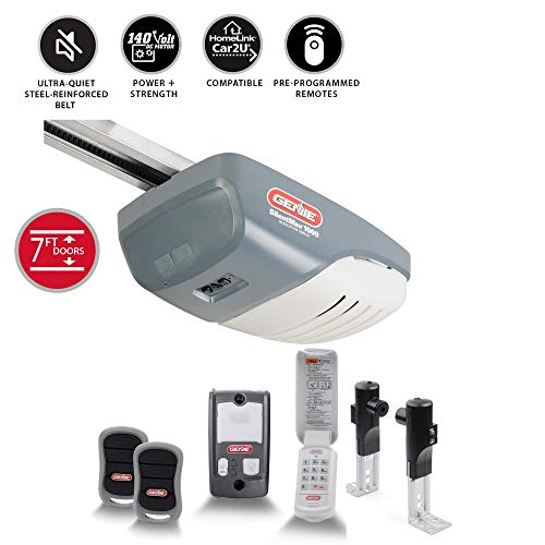 Genie SilentMax 1000 Garage Door Opener - Ultra-Quiet Belt Drive - Includes Two 3-Button Pre-Programmed Remotes, Wall Console, Wireless Keypad, Safe T-Beams - Model 3042-TKH, 140V DC (Best Genie Silentmax 1000 Garage Door Opener)