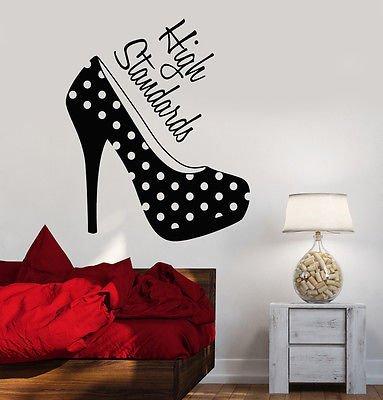 - Vinyl Wall Decal Women's High Heel Shoes Girl Room Fashion Stickers VS646
